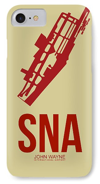 Sna Orange County Airport Poster 2 IPhone Case by Naxart Studio