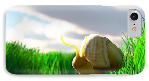 Snail And Grass... IPhone Case by Tim Fillingim