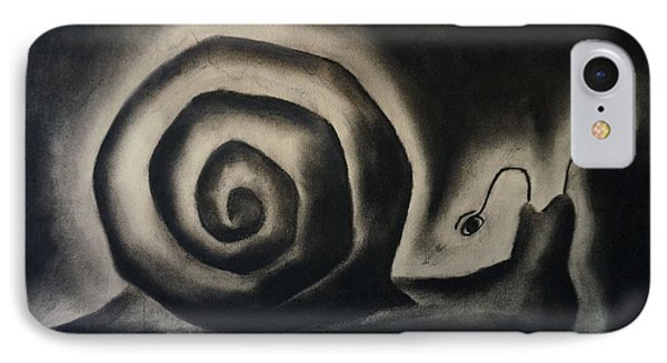 Snail In A Rainy Day IPhone Case by Rosa Garcia Sanchez