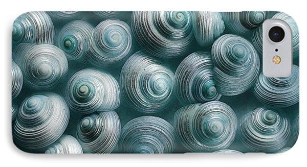 Snails Cyan IPhone Case by Priska Wettstein