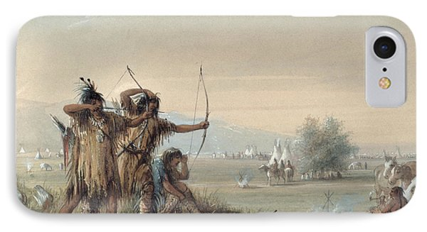 Snake Indians Testing Bows Phone Case by Alfred Jacob Miller