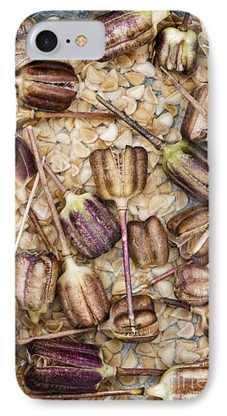 Snakes Head Fritillary Flower Seeds Pattern Phone Case by Tim Gainey