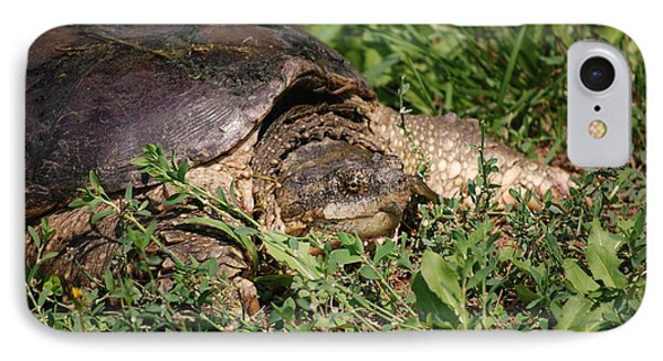 IPhone Case featuring the photograph Snapping Turtle by Mark McReynolds