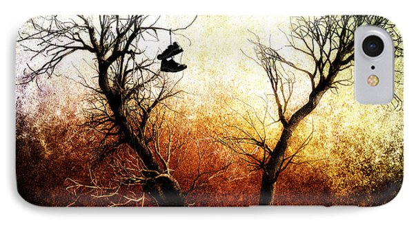Sneakers In The Tree Phone Case by Bob Orsillo