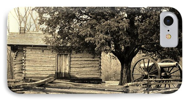 Snodgrass Cabin And Cannon IPhone Case by Daniel Thompson