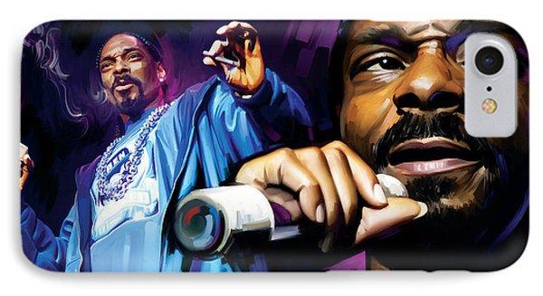 Snoop Dogg Artwork Phone Case by Sheraz A