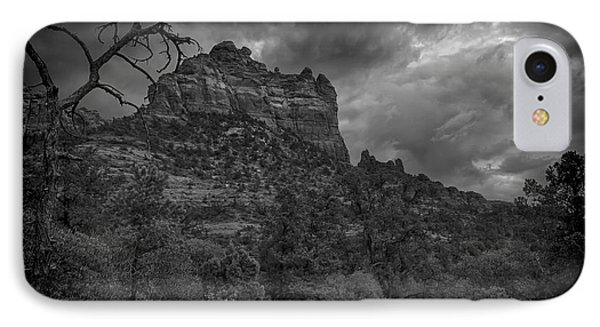 Snoopy Mountain In Black And White IPhone Case by Kelly Gibson