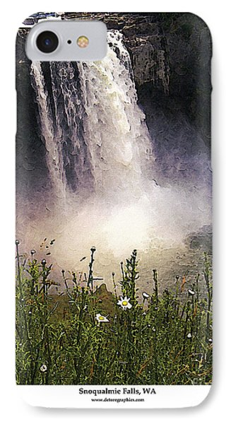 IPhone Case featuring the photograph Snoqualmie Falls Wa. by Kenneth De Tore