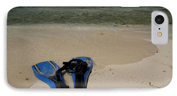 Snorkel Set On The Beach, Caribbean IPhone Case by Panoramic Images