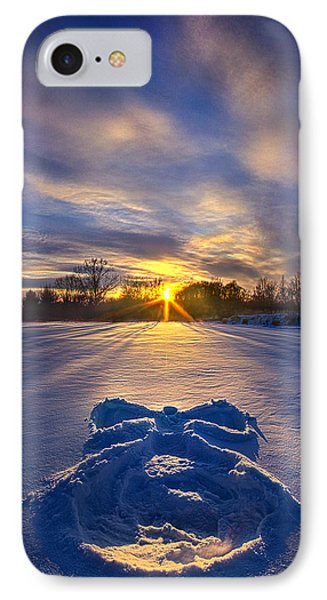 Snow Angel IPhone Case by Phil Koch