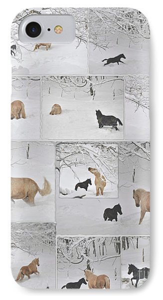 Snow Angels Paso Fino Style Phone Case by Patricia Keller