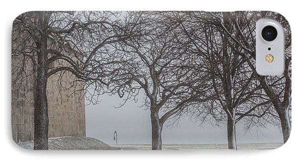 Snow At Castle Island IPhone Case
