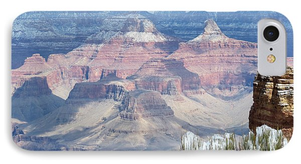 Snow At The Grand Canyon IPhone Case by Laurel Powell