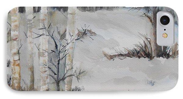 Snow Birches IPhone Case
