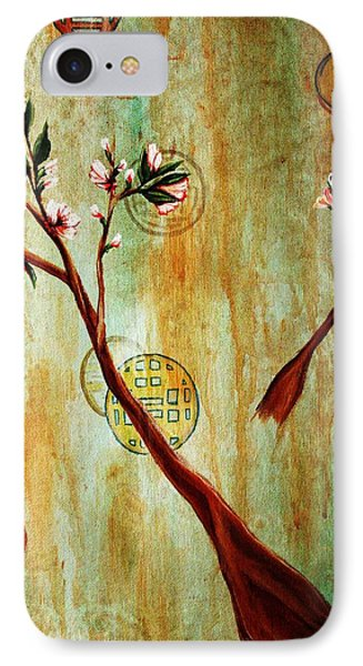snow blossoms II Phone Case by Christine Maeda