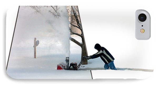 Snow Blower Phone Case by Thomas Woolworth
