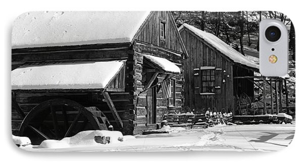 Snow Bound In Black And White IPhone Case by Paul Ward