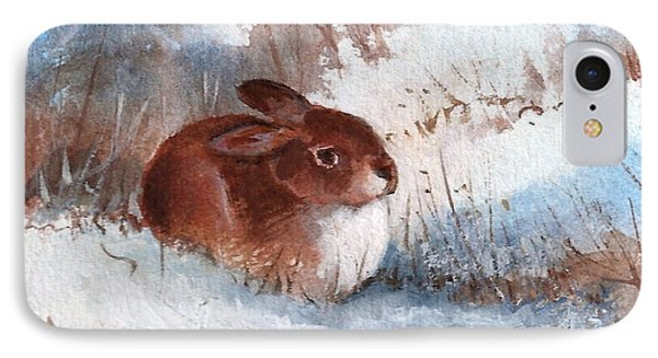 Snow Bunny IPhone Case by Richard Hinger