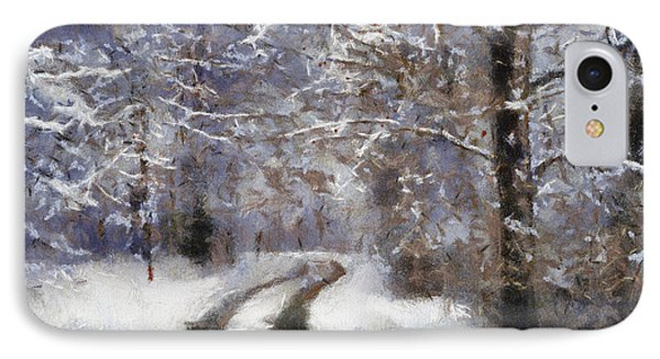Snow Came IPhone Case by Barbara R MacPhail