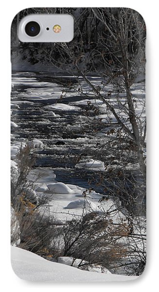 Snow Capped Stream IPhone Case by Adam Cornelison