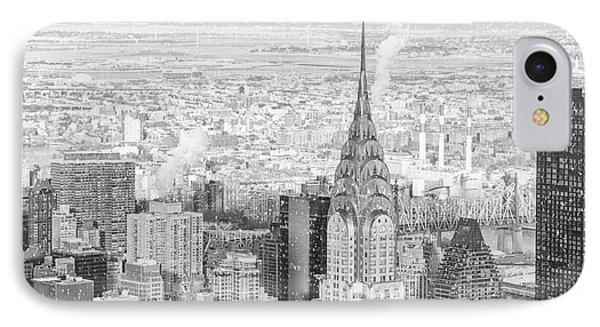 Snow - Chrysler Building And New York City Skyline IPhone Case