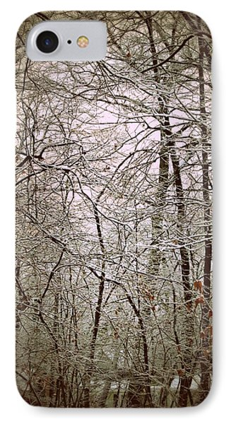 Snow Cover Forest Phone Case by Dawdy Imagery