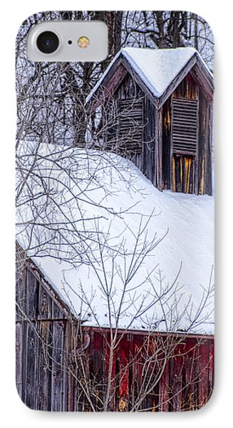 Snow Covered Barn IPhone Case by Wayne Meyer