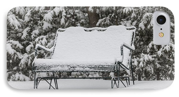 Snow Covered Bench IPhone Case by Elena Elisseeva