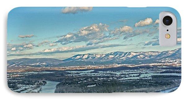 Snow Covered Blue Ridge Phone Case by Lara Ellis