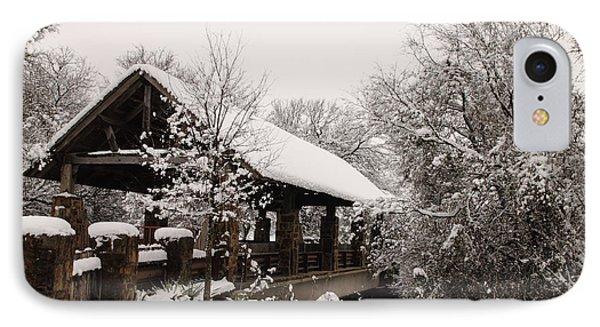 Snow Covered Bridge Phone Case by Robert Frederick