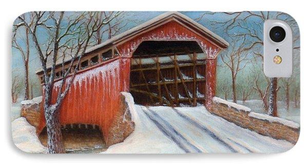 Snow Covered Bridge IPhone Case