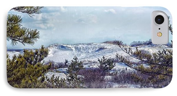 IPhone Case featuring the photograph Snow Covered Dunes Photo Art by Constantine Gregory