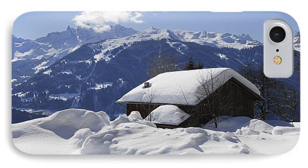 Snow-covered House In The Mountains In Winter Phone Case by Matthias Hauser