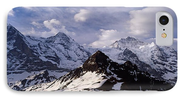 Snow Covered Mountains, Mt Eiger, Mt IPhone Case