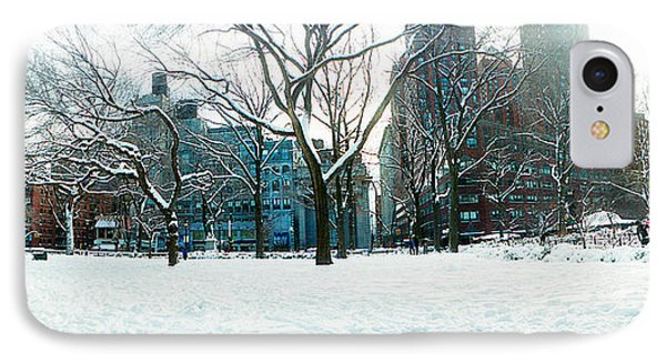 Snow Covered Park, Union Square IPhone Case by Panoramic Images