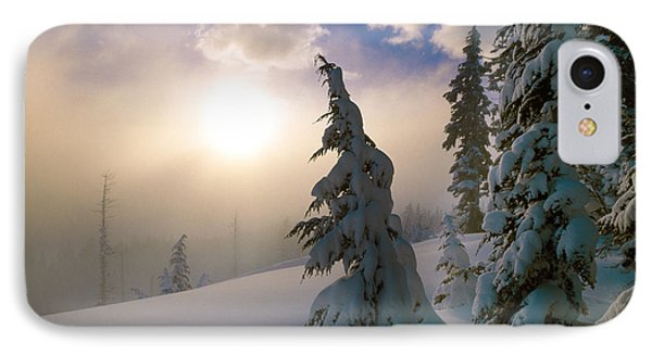 Snow-covered Pine Trees, Sunrise IPhone Case by Panoramic Images