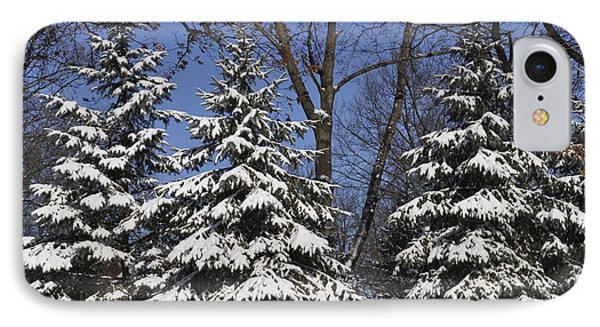 Snow Covered Pines IPhone Case
