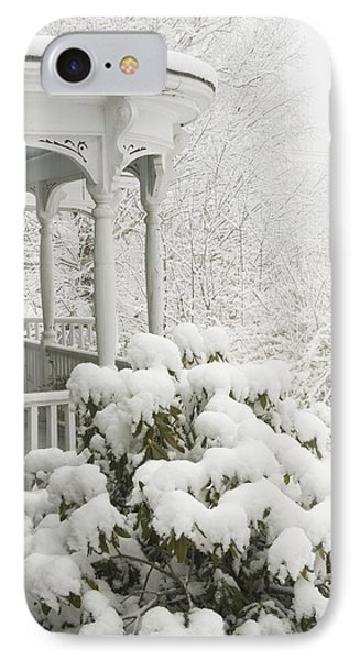 Snow Covered Porch IPhone Case by Keith Webber Jr