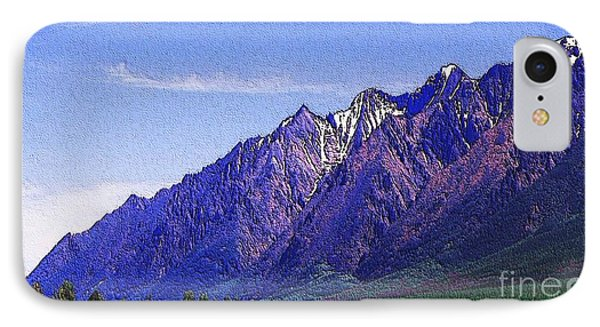 Snow Covered Purple Mountain Peaks IPhone Case by PainterArtist FIN