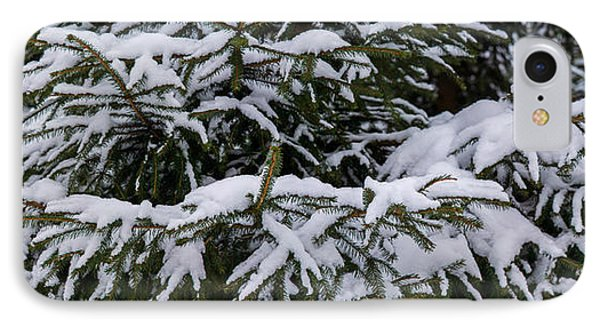 Snow Covered Spruce Tree - Featured 2 Phone Case by Alexander Senin