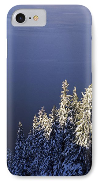 Snow Covered Trees At South Rim, Crater IPhone Case by Panoramic Images