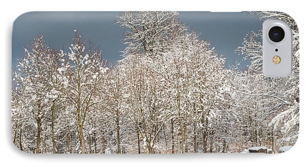 Snow Covered Trees In The Forest In Winter Phone Case by Matthias Hauser