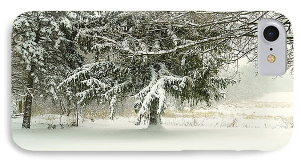Snow-covered Trees IPhone Case by Lars Lentz