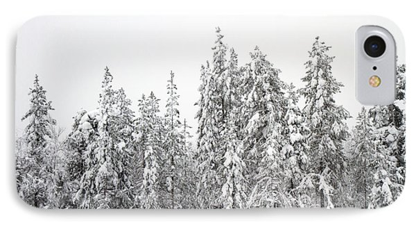 Snow Covered Trees  IPhone Case by Lilach Weiss