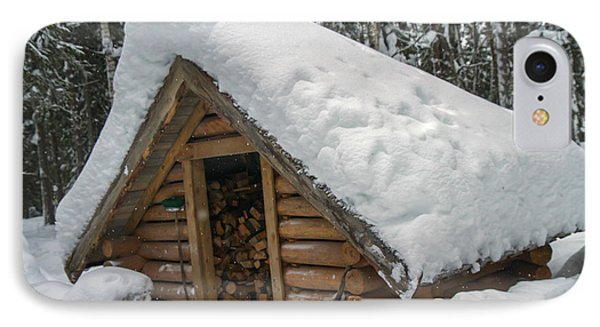 Snow Covered Wood Cabin IPhone Case by Lilach Weiss