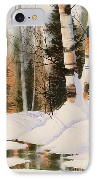 Snow Crevice Phone Case by Teresa Ascone