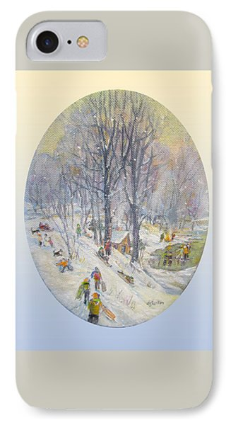 IPhone Case featuring the painting Snow Day by Donna Tucker
