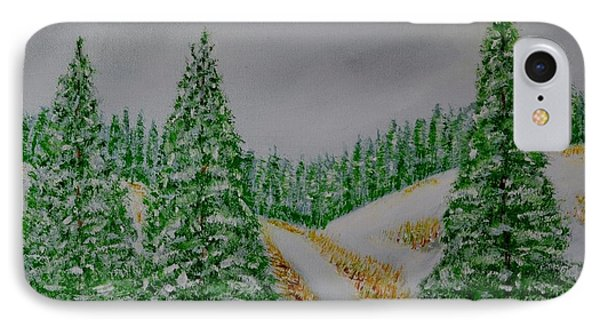 Snow Day IPhone Case by Melvin Turner
