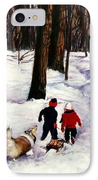 Snow Days Phone Case by Jeanne  McNally