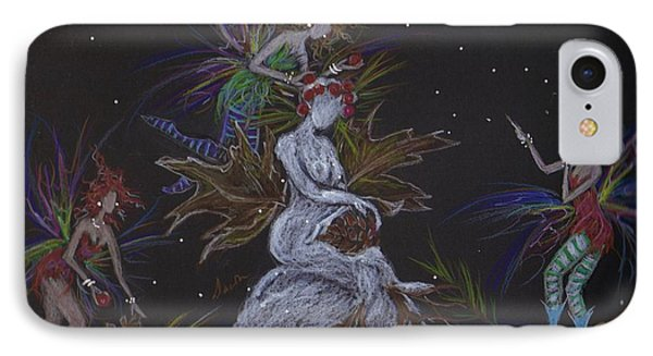 Snow Dryad IPhone Case by Dawn Fairies